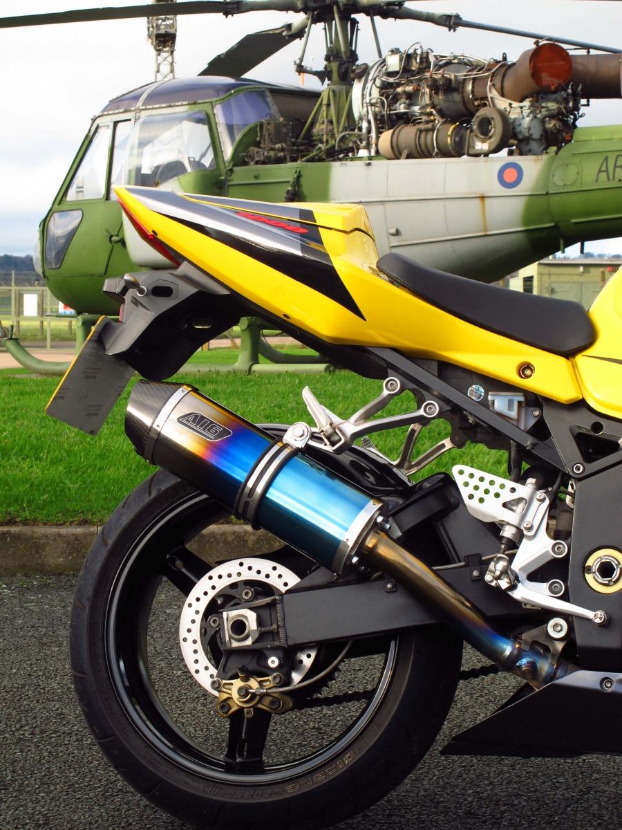 Suzuki GSXR 1000 2003-2004<p>A16 Coloured Titanium Road Legal Exhaust with Carbon Outlet</p>