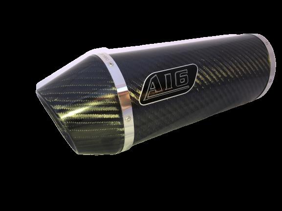 A16 Road Legal Carbon Exhaust with Carbon Cap Outlet