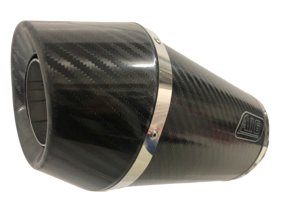 A16 Stubby Carbon Exhaust with Carbon Cap Outlet