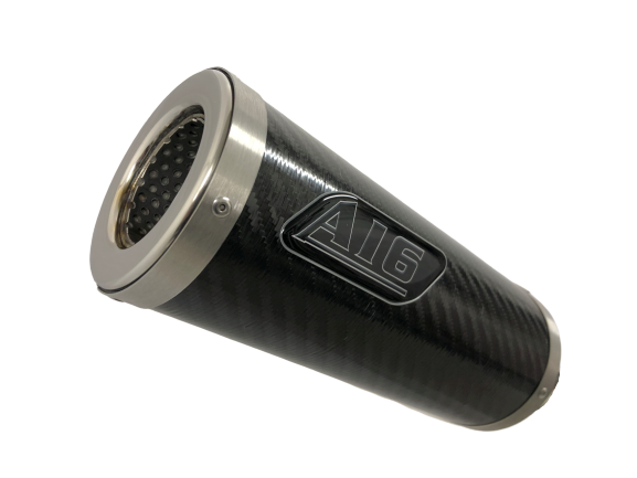 A16 Moto GP Carbon Exhaust with Flat Outlet
