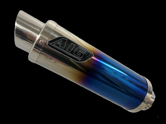 A16 Moto GP Coloured Titanium Exhaust with Polished Slashcut Outlet