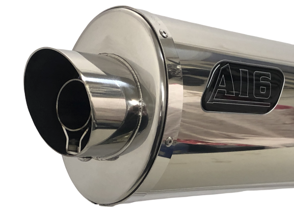 A16 Road Legal Stainless Exhaust with Polished Slashcut Outlet