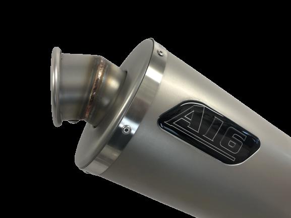 A16 Stubby Plain Titanium Exhaust with Titanium Type Traditional Spout
