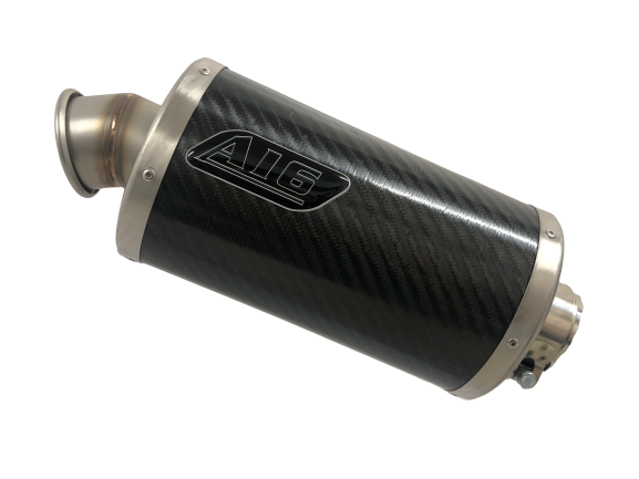 A16 Stubby Carbon Exhaust with Titanium Type Traditional Spout