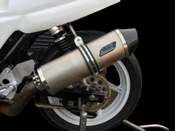 Honda CB500<p> A16 Race Exhaust - Titanium with Carbon Outlet</p>