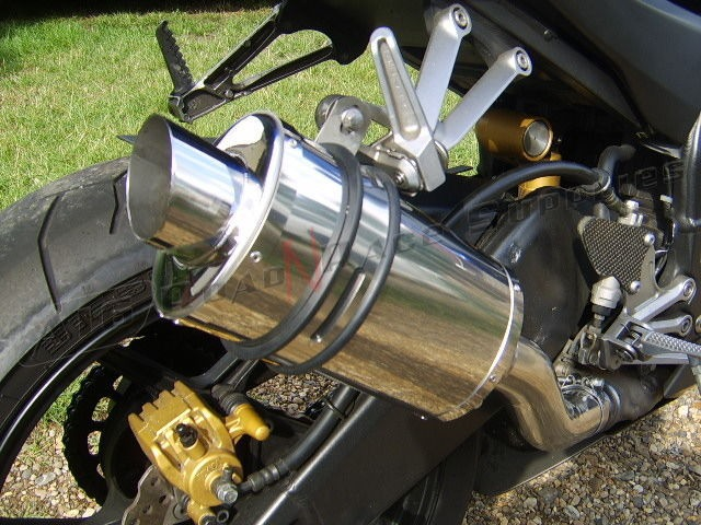"""Kawasaki ZX10R 2004-2005<p>A16 Stubby Stainless Exhaust with Polished Slashcut Outlet</p><br><a href=""""https://a16roadnracesupplies.co.uk/product/a16-kawasaki-exhausts/"""">Click here to Spec your A16 Kawasaki Exhaust now!</a>"""