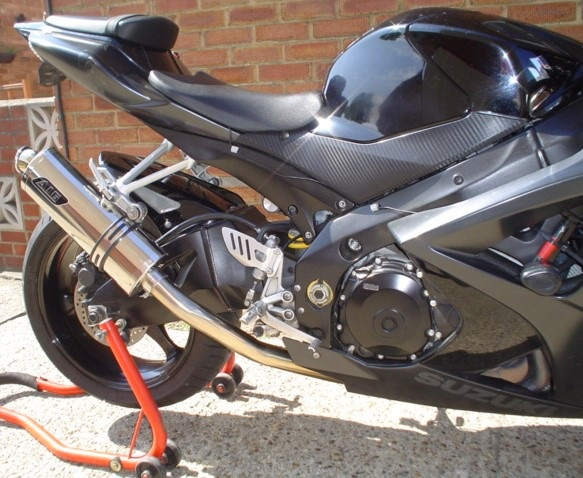 """Suzuki GSXR 1000 K7-K8 2007-2008<p>A16 Road Legal Stainless Exhaust with Traditional Spout.</p><br><a href=""""https://a16roadnracesupplies.co.uk/product/a16-suzuki-exhausts/"""">Buy now!</a>"""
