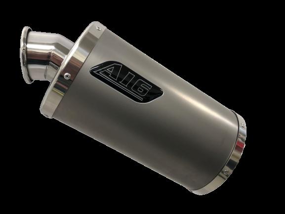 A16-Exhaust-Stubby-Plain-Titanium-with-Polished-Spout