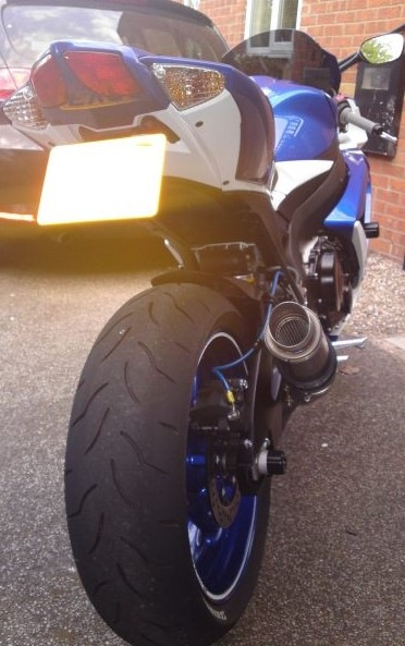 "Suzuki GSXR 600 750 2008-2010 <p>A16 Moto GP Carbon Exhaust with Titanium Type Slashcut Outlet</p><br/><a href=""https://a16roadnracesupplies.co.uk/product/a16-suzuki-exhausts/"">Buy now!</a>"
