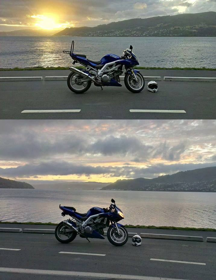 """Suzuki SV1000 - All Years<p>A16 Stubby Stainless Exhaust with Traditional Spouts, Hayden, New Zealand</p><br><a href=""""https://a16roadnracesupplies.co.uk/product/a16-suzuki-exhausts/"""">Buy now!</a>"""