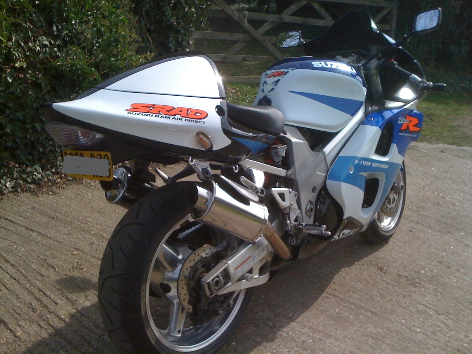 """Suzuki TL1000 <p>A16 Stubby Stainless Exhaust with Slashcut Outlets</p><br/><a href=""""https://a16roadnracesupplies.co.uk/product/a16-suzuki-exhausts/"""">Buy now!</a>"""