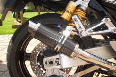 """Yamaha  XJR 1300 2008 onwards <p>A16 Carbon Moto GP Exhaust with Polished Slashcut Outlets</p><br /><br /><a href=""""https://a16roadnracesupplies.co.uk/product/a16-yamaha-exhausts/"""">Buy now!</a>"""