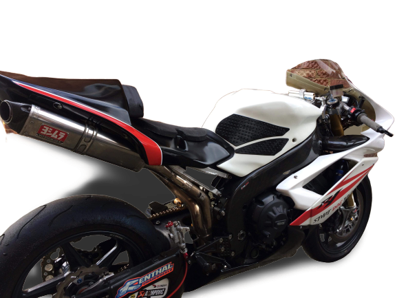 """YamahaYZF R1 2007-08<p>A16 Race Fairing and Seat</p><br><a href=""""https://a16roadnracesupplies.co.uk/product/a16-yamaha-exhausts/"""">Buy now!</a>"""